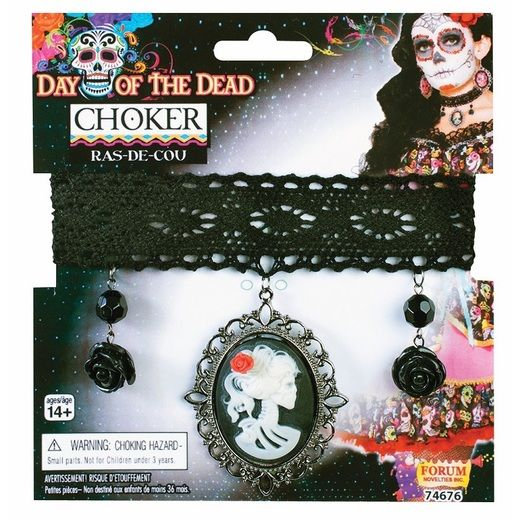 Day of the Dead Party Wear Day of the Dead Cameo Choker Image