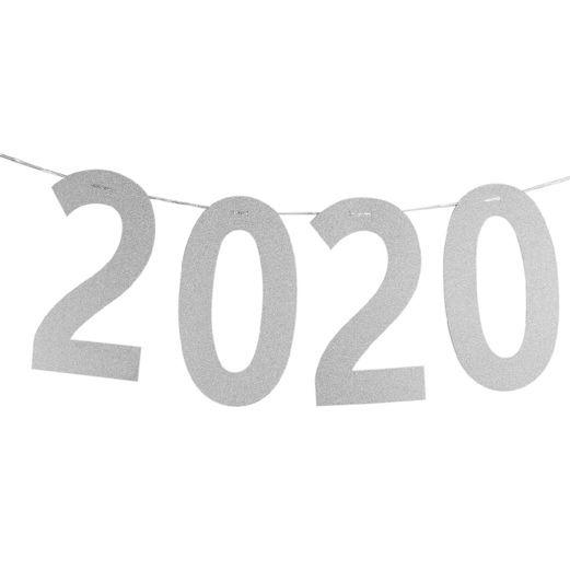 Graduation Decorations 2020 Silver Diamond Banner Image