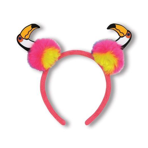 Luau Hats & Headwear Toucan Pom Pom Headband Image