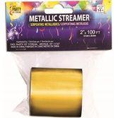 Decorations Gold Metallic Streamer Image