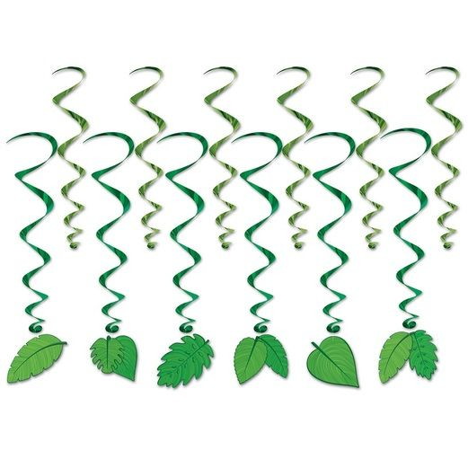 Luau Decorations Tropical Leaf Whirls Image