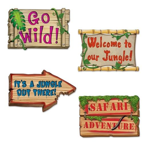 Jungle & Safari Decorations Jungle Sign Cutouts Image