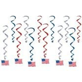 4th of July Decorations American Flag Whirls Image