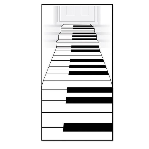 Music Decorations Piano Keyboard Runner Image
