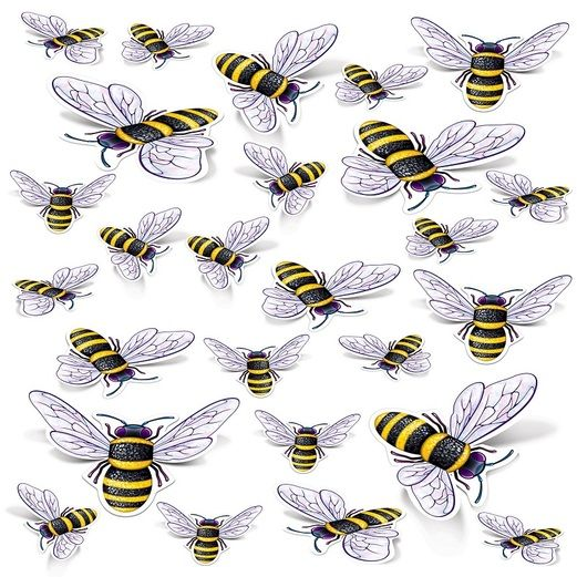 Easter Decorations Bee Cutouts Image