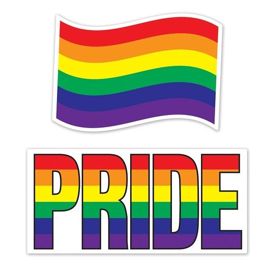 Pride Decorations Jumbo Rainbow Cutouts Image