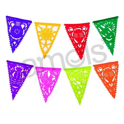 "Decorations Small Tissue Pennants 6.25""x8"" Image"
