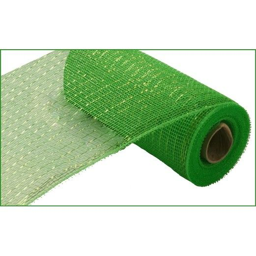 Decorations Lime Green Metallic Mesh Roll Image