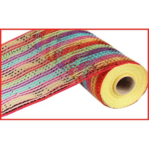Decorations Wide Foil Stripe Mesh Roll  Image