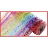 Decorations Multicolor Stripe Mesh Roll Image