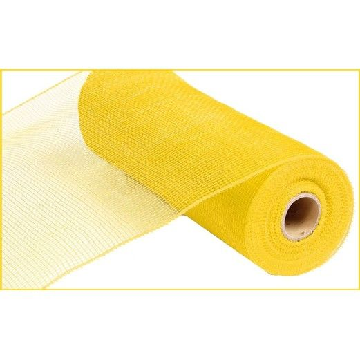 Decorations Extra Wide Yellow Metallic Mesh Roll Image