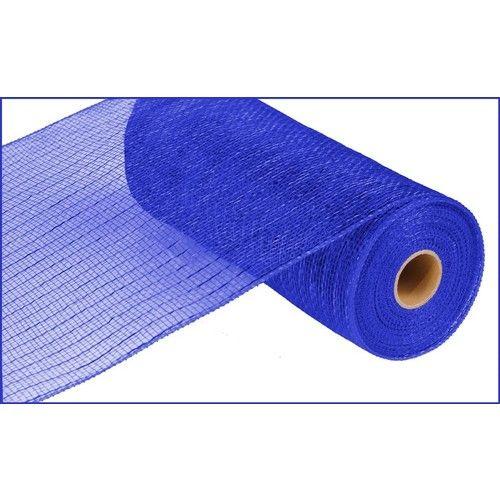 Extra Wide Royal Blue Metallic Mesh Roll