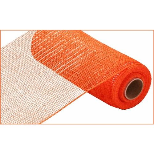 Extra Wide Orange Metallic Mesh Roll
