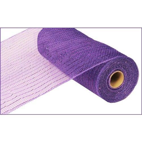 Extra Wide Purple Metallic Mesh Roll