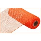 Decorations Extra Wide Orange Metallic Mesh Roll  Image