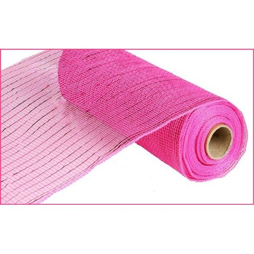 Decorations Extra Wide Hot Pink Metallic Mesh Roll Image