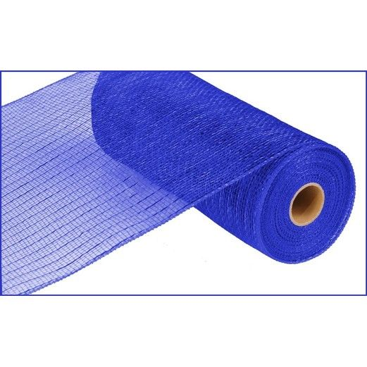 Decorations Extra Wide Royal Blue Metallic Mesh Roll Image