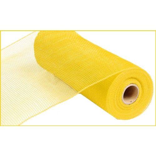 Extra Wide Yellow Metallic Mesh Roll