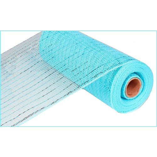 Extra Wide Turquoise Metallic Mesh Roll