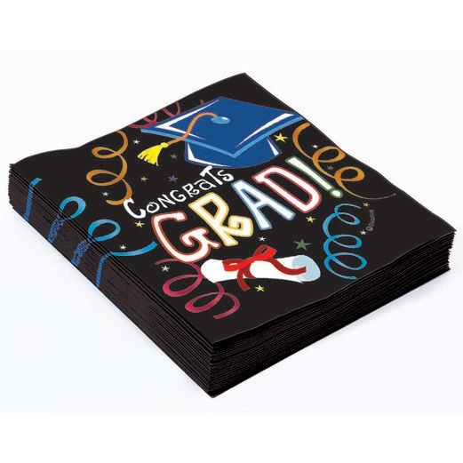 Graduation Table Accessories Graduation Beverage Napkins Image