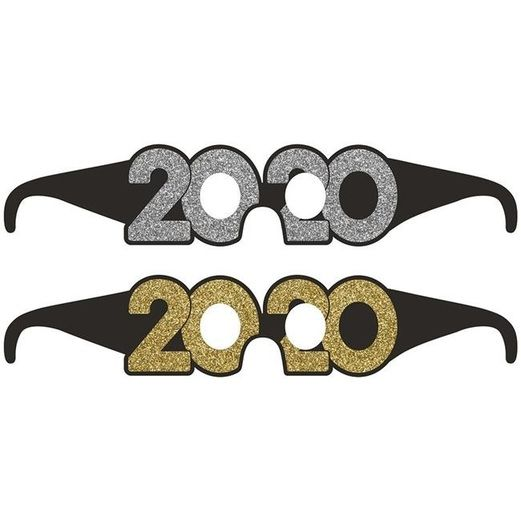 New Years Party Wear 2020 Glittered Glasses Image
