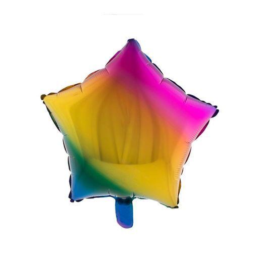 Fiesta Balloons Rainbow Star Mylar Image