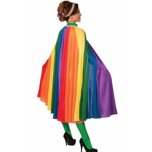 Pride Party Wear Adult Rainbow Fantasy Cape Image
