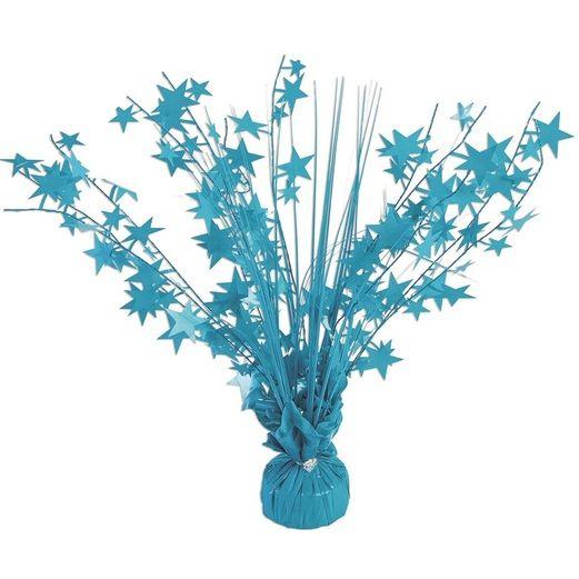 Decorations Neon Turquoise Starburst Centerpiece Image