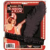 20s Party Wear Black Flapper Headband Image