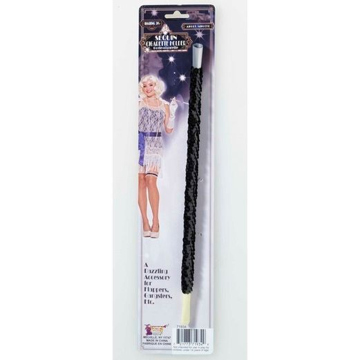 20s Party Wear Black Sequin Cigarette Holder Image