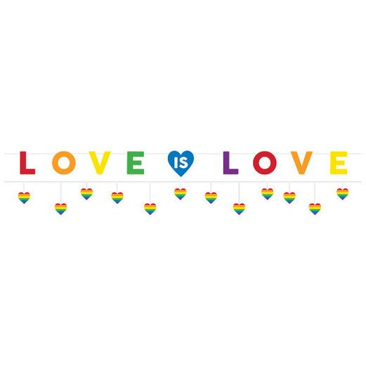 Pride Decorations Love Is Love Banner Image