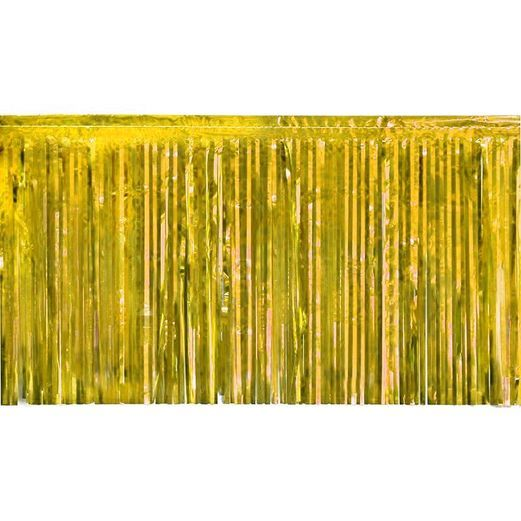 Decorations Gold Tinsel Fringe Drape Image