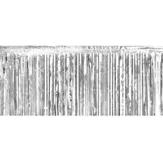 Decorations Silver Tinsel Fringe Drape Image