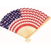4th of July Favors & Prizes Patriotic Paper Fan Image
