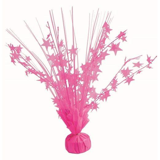 Decorations Neon Pink Star Burst Centerpiece Image