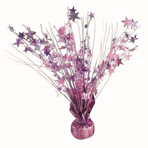 Decorations Pink Holographic Starburst Centerpiece Image