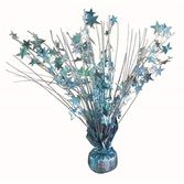 Decorations Light Blue Holographic Starburst Centerpiece Image