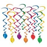 Birthday Party Decorations Balloon Whirls Image