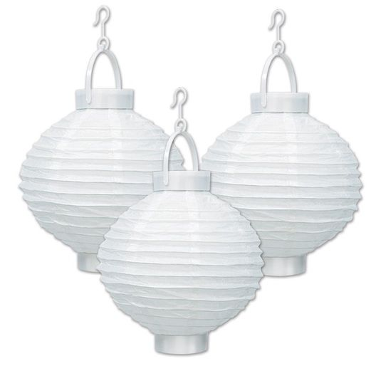 White Light Up Lanterns