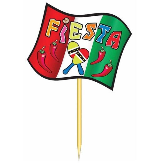Fiesta Decorations Fiesta Party Picks Plastic Image
