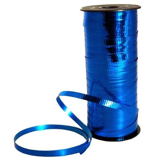 Balloons Metallic Blue Curling Ribbon Image