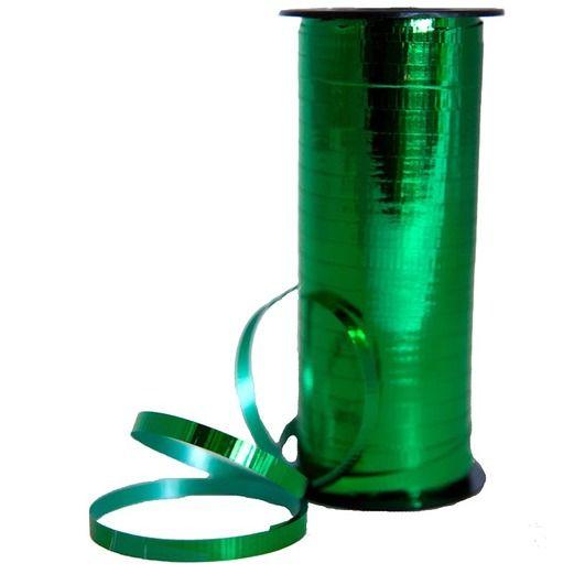 Balloons Metallic Green Curling Ribbon Image
