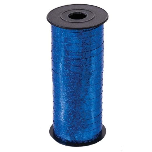 Balloons Blue Holographic Curling Ribbon Image