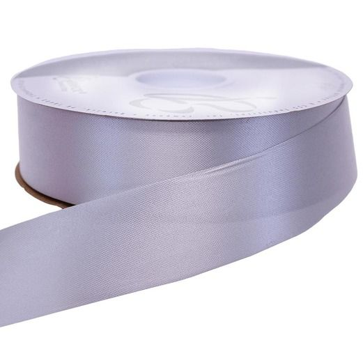 Decorations Silver Medium Satin Ribbon Image