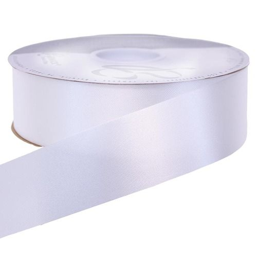 White Medium Satin Ribbon