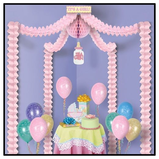 Baby Shower Decorations It's a Girl Party Canopy Image