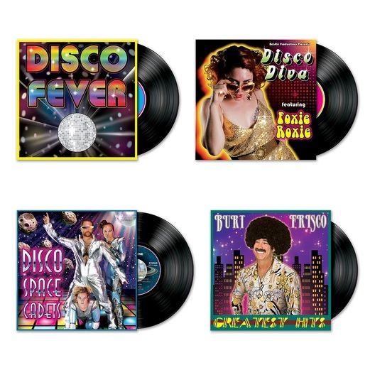 60s & 70s Decorations Disco Album Cutouts Image