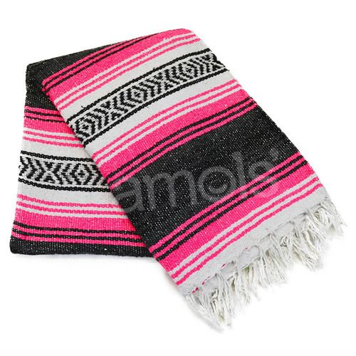 Neon Pink Mexican Blanket