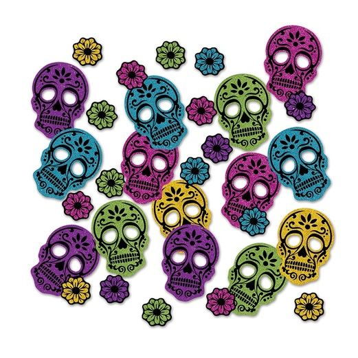 Day of the Dead Decorations Day of the Dead Sparkle Confetti Image