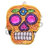 Decorations Sugar Skull Tin Ornament Image
